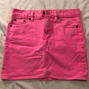 J Crew hot pink skirt